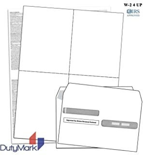 Amazon com : EGP IRS Approved Blank W-2 4 Up Tax Form with