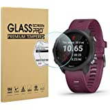 Diruite 3-Pack for Garmin Forerunner 245/245 Music Screen Protector, 2.5D 9H Hardness Tempered Glass Screen Protector…