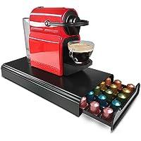RECAPS Coffee Pod Holder Storage Drawer Coffee Pods Kitchen Organizer Compatible with Nespresso Black