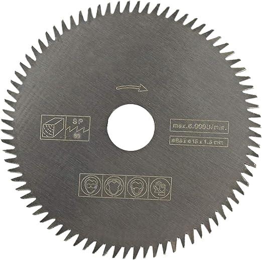 85*15*1.5mm 80T Teeth Cemented Carbide Circular Saw Blade Disc Wood Cutting Tool