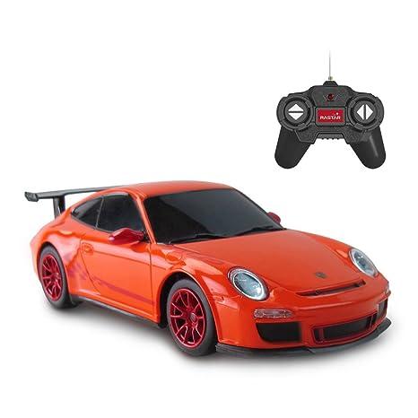 Amazon Com Rastar Porsche Rc Car 1 24 Scale Porsche Gt3 Rs Remote
