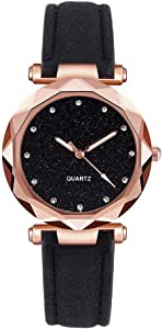 Ladies Fashion Korean Rhinestone Rose Gold Quartz Watch Female Belt Watch - Women's Wrist Watches - Classic Leather Strap Watches More Luxury and Attractive