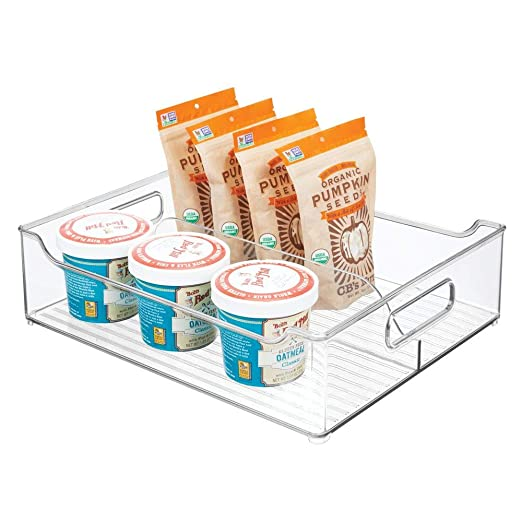 mDesign Caja organizadora con Asas - Contenedor de plástico con ...