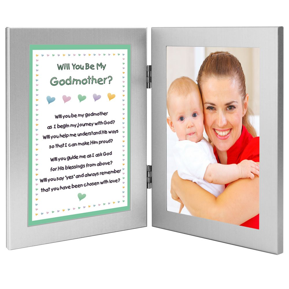 Amazoncom Will You Be My Godmother Keepsake Frame Add Baby