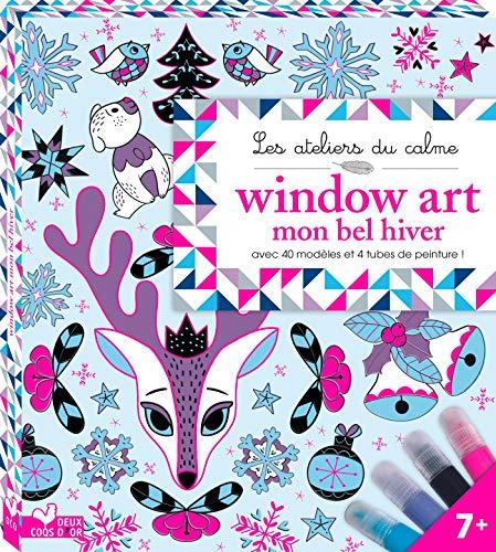 Price comparison product image Window Art mon bel hiver : Avec 40 modèles,  4 tubes de peintures et 1 feuille en PVC