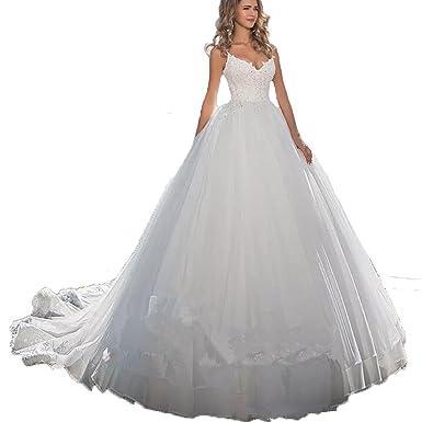 Auxico Neues reizvolles Strand-Hochzeitskleid Mieder V-Ansatz ...