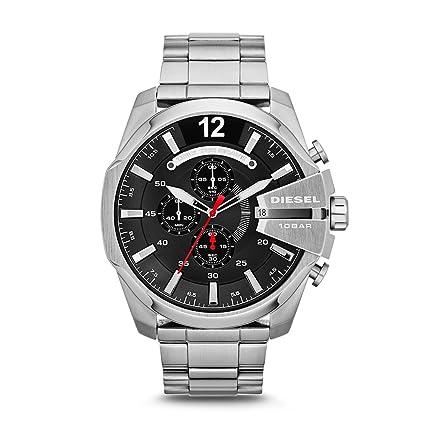 Diesel Mega Chief Analog Black Dial Men's Watch - DZ4308