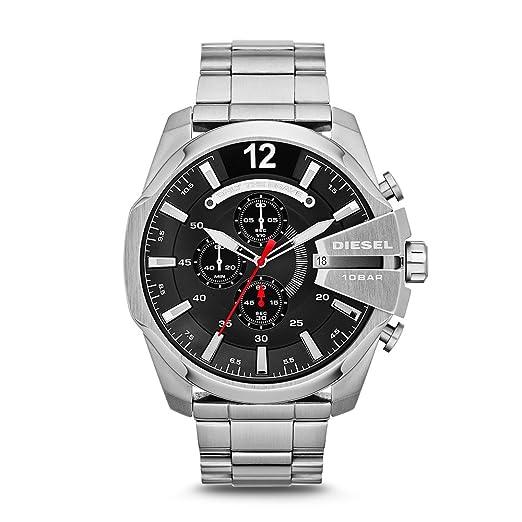 Diesel Reloj Analógico para Hombre de Cuarzo con Correa en Acero Inoxidable DZ4308: Diesel: Amazon.es: Relojes