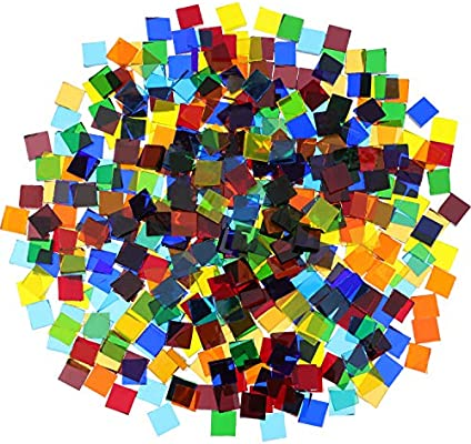 400 Piece// 300 g Assorted Colors Mosaic Tiles Glitter Crystal Home...
