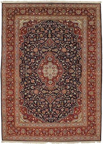 - Admin Rugs Great Shape Unusual Design Signed Kashan Persian Style Rug Oriental Area Carpet 9X13