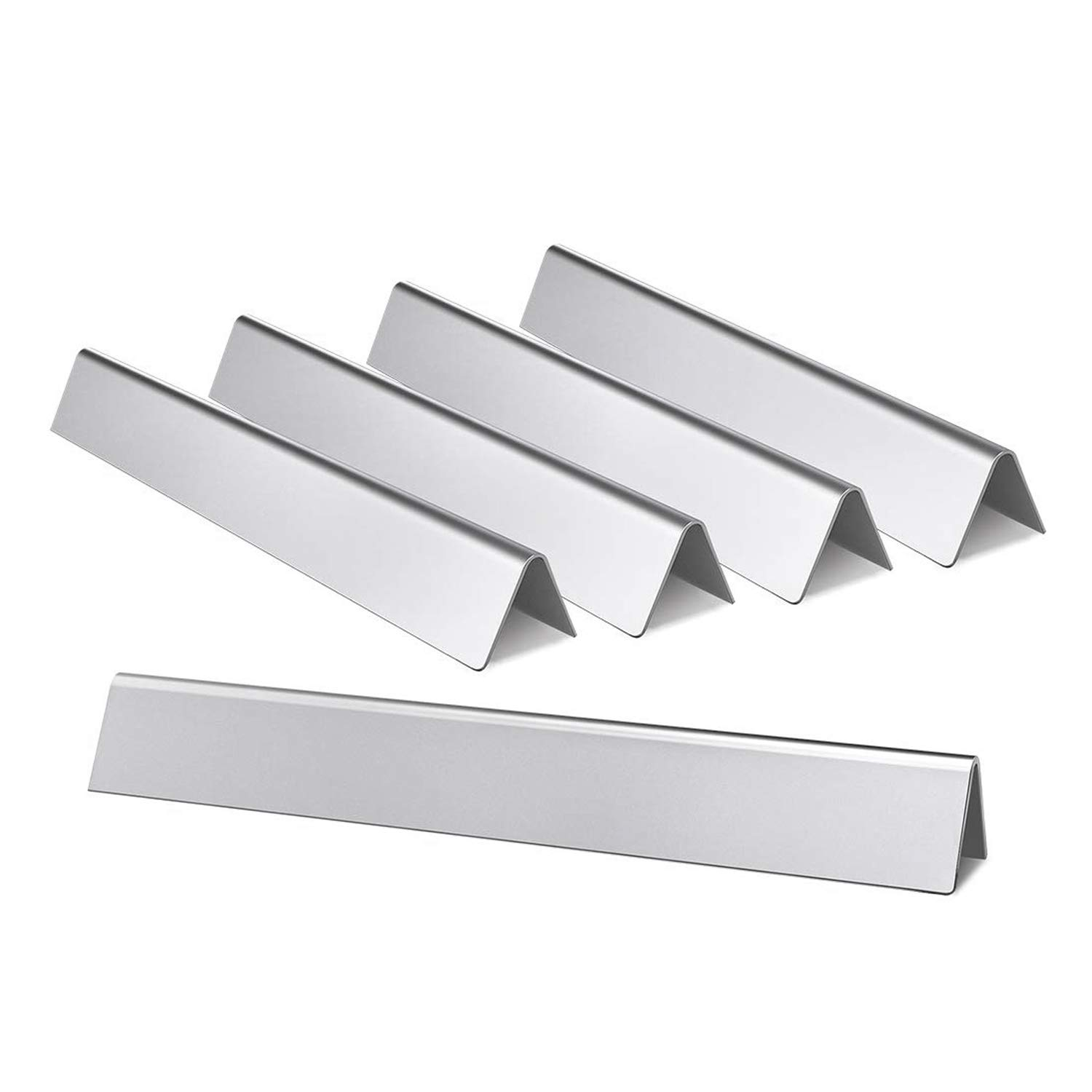 Hongso 7539 7540 24.5 Inch Stainless Steel Flavorizer Bars Replacement for Weber Genesis 300 Series E-310, E-320, S-310, S-320 (with Side-Controls Panel) Heat Deflectors 5-Pack 20 Gauge by Hongso