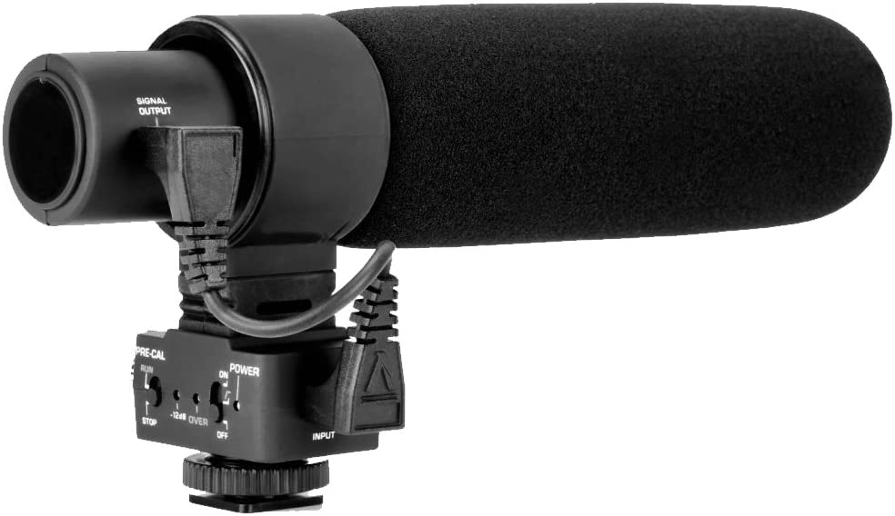 Stereo//Shotgun Advanced Super Cardioid Microphone for Canon XC10 with Dead Cat Wind Muff