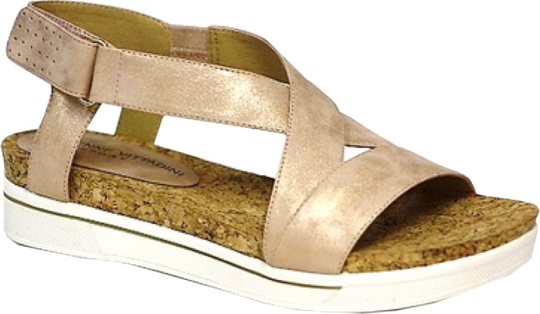 Adrienne Vittadini Women's Celie Flat Sandal