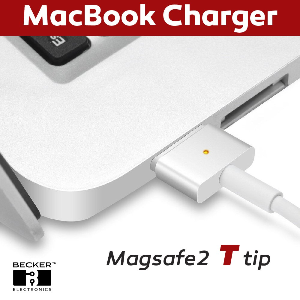 Macbook Pro Charger, 45W Magsafe 2 (T) Style Power Adapter Connector - BECKER ™ - Replacement Charger for Apple Mac Book Pro 11 inch / 13 inch / 15 inch by BECKER TM (Image #4)
