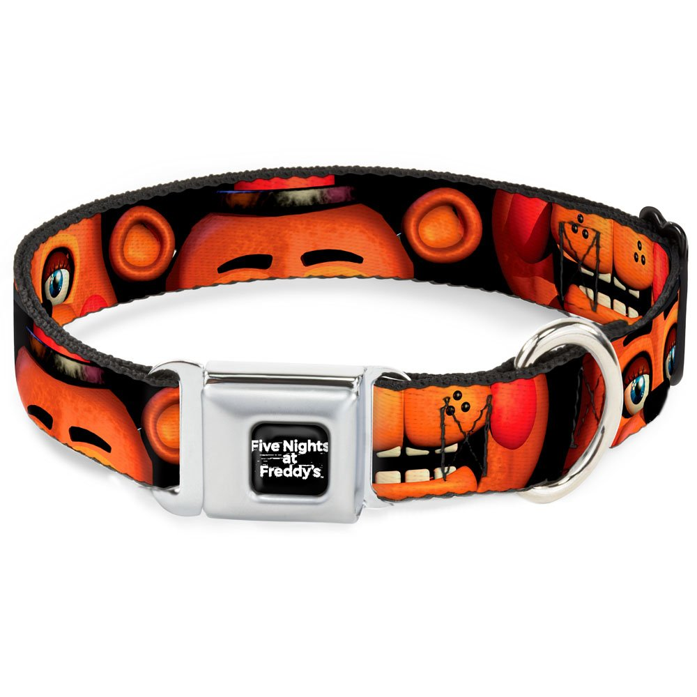 L Fits 15-26\ Buckle-Down DC-WFNF008-L 15-26  FNFA-Five Nights at Freddy's Logo Weathered Full color Black White  Dog Collar, Large