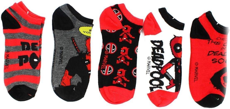 Deadpool Marvel Ankle Socks, 5-Pack: Amazon.es: Juguetes y juegos
