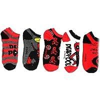 Marvel Deadpool Ankle Socks, 5-Pack
