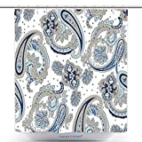 kroger pickles - vanfan-Polyester Shower Curtains Vintage Flowers Seamless Paisley Pattern Traditional Persian Pickles Ornament Fabric Textile Polyester Bathroom Shower Curtain Set With Hooks(36 x 78 inches)