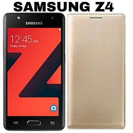 pretty nice e6050 97931 AVICA Leather Flip Cover for Samsung Z4 - Gold Price: Buy AVICA ...