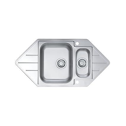 alveus fregadero de acero inoxidable 18/10, tamaño: 98,5 x 50 cm ...