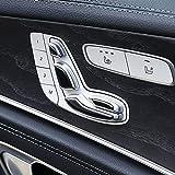 ABS Plastic Chrome Seat Adjustment Button Sequins Cover Trim for Mercedes benz E Class W213 E200 E300 2016-2018 Gloss Black