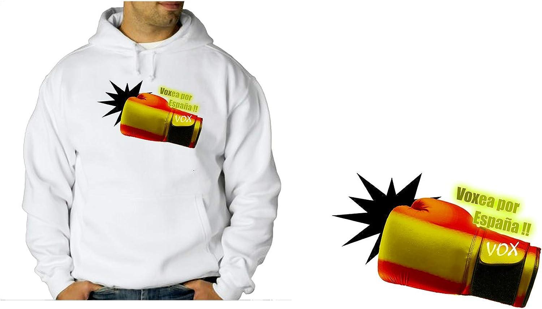 MERCHANDMANIA Sudadera con Capucha VOXEA por ESPAÑA Sweatshirt: Amazon.es: Ropa y accesorios