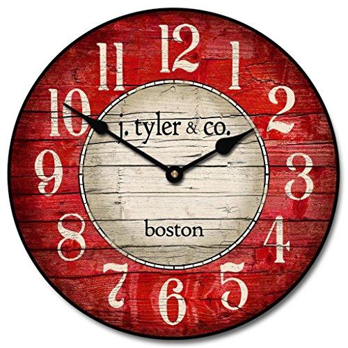 red kitchen clock - 7