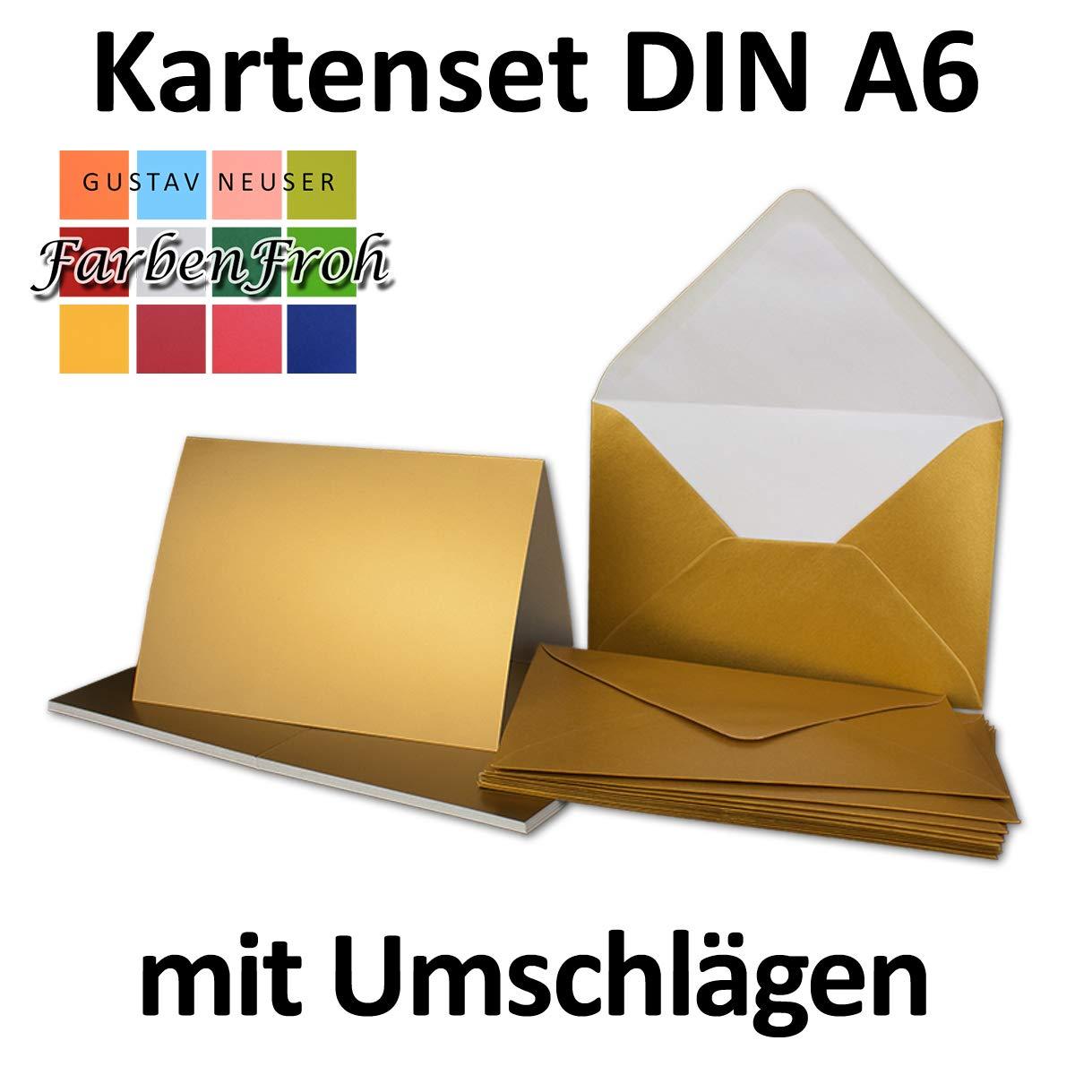 Faltkarten Set mit Brief-Umschlägen DIN A6     C6 in Rosanrot   100 Sets   14,8 x 10,5 cm   Premium Qualität   Serie FarbenFroh® B07Q2C8KK7 | Fein Verarbeitet  a4fa66