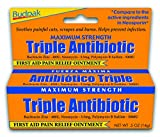 Budpak Triple Antibiotic Ointment, Original Strength, 0.5 Ounce (Pack of 6)