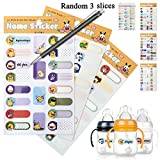 Bottle Name Labels,Daycare Waterproof Labels, Assorted Sizes & Colors,Fancy Shape Stickers Labels for Food Jars and Bottles,60 Labels in Total Ready for School, Daycare & Camp by Bagvhandbagro [60PC]