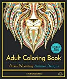 Adult Coloring Book: Stress Relieving Animal Designs, Celebration Edition