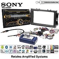 Volunteer Audio Sony WX-920BT Double Din Radio Install Kit with Bluetooth, Pandora, and SiriusXM Ready For 2007-2008 Ram, 2006-2007 Chrysler 300