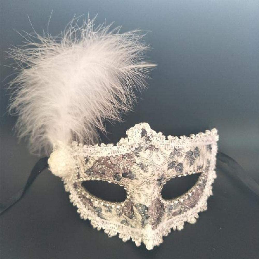 OWL FEATHER EYE MASK ADULT FANCY DRESS ACCESSORY MASQUERADE PARTY