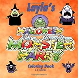 Layla's Halloween Monster Party Coloring Book (Personalized Books for Children) (Personalized Children's Books)