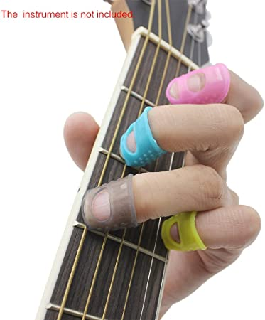 U0A2 Gitarren--Kit enthält 15pcs Silikon-Gitarren-Finger-Protektoren