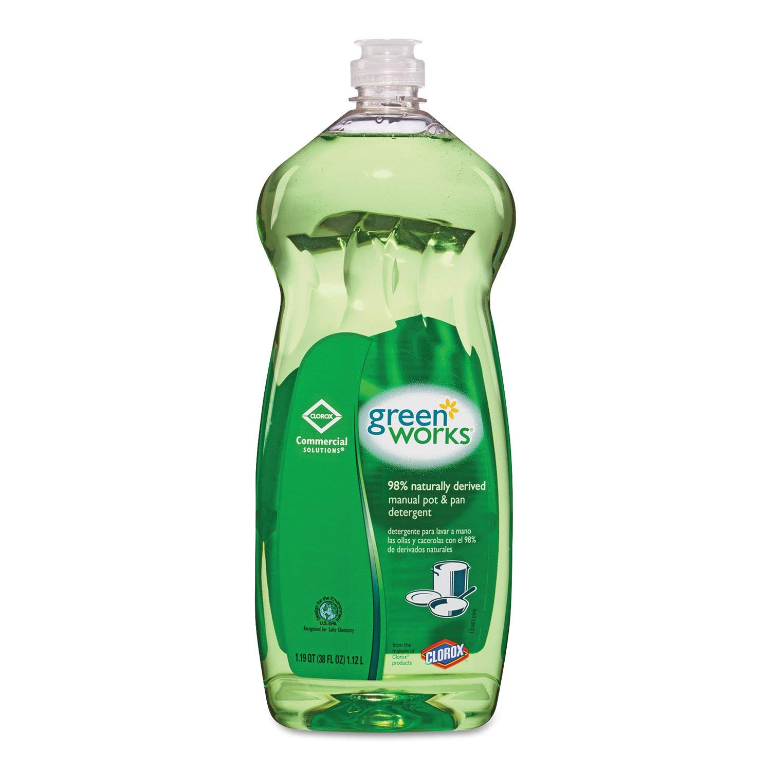 Green Works CLO 30381 38 oz Natural Common Solutions Pot And Pan Dishwashing Liquid Bottle