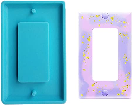 2Pcs Light Switch Cover Resin Mold Silicone Mould Epoxy Mold for DIY Jewelry Craft Switch Socket Panel Plaster Mold,Light Switch Mold