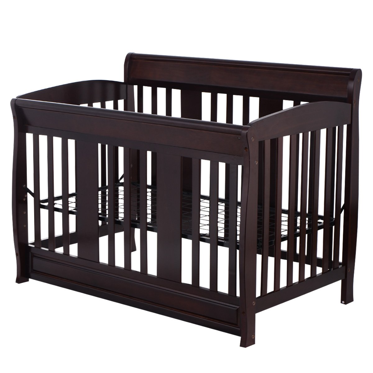 Costzon Baby Convertible Crib Toddler Nursery Bed Furniture Wooden