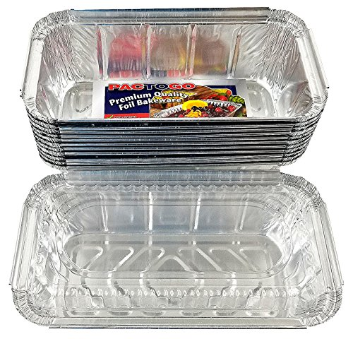 Pactogo 1 1/2 lb. IVC Disposable Aluminum Foil Loaf Bread Pan w/Clear Dome Lid (8'' x 4.1'' x 2.2'') - Heavy Duty Made in USA (Pack of 200 Sets) by PACTOGO (Image #4)