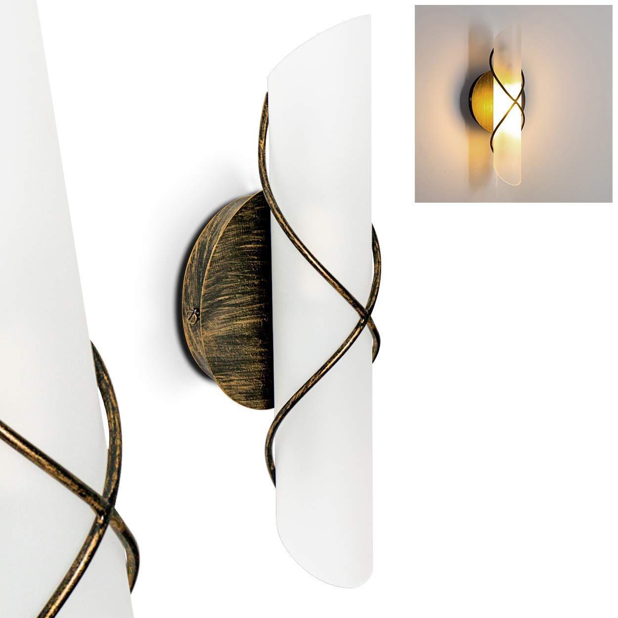 Applique da parete Palma Interruttore integrato Color bronzo Classe energetica A++
