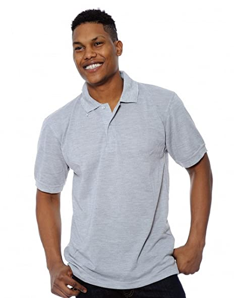 Enimay Men S Solid Color Plain No Logo Casual Collared Polo Shirt At