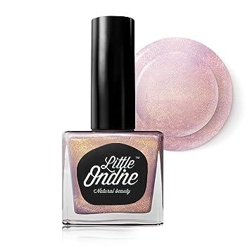 Amazon.com: Little Ondine Pink Holographic Nail Polish,Peel Off Non ...