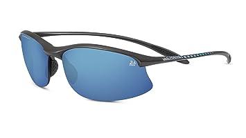 Serengeti - Maestrale 24h Le Mans, Sportbrille, Acetat, Herrenbrillen, Satin Dark Gun/phd Polarized 555nm Blue(8477), 67/14/0