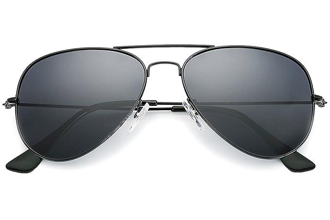 e7dbb0b46d5 YuFalling Polarized Aviator Kids Sunglasses for Girls and Boys Age 5-12 ( black frame