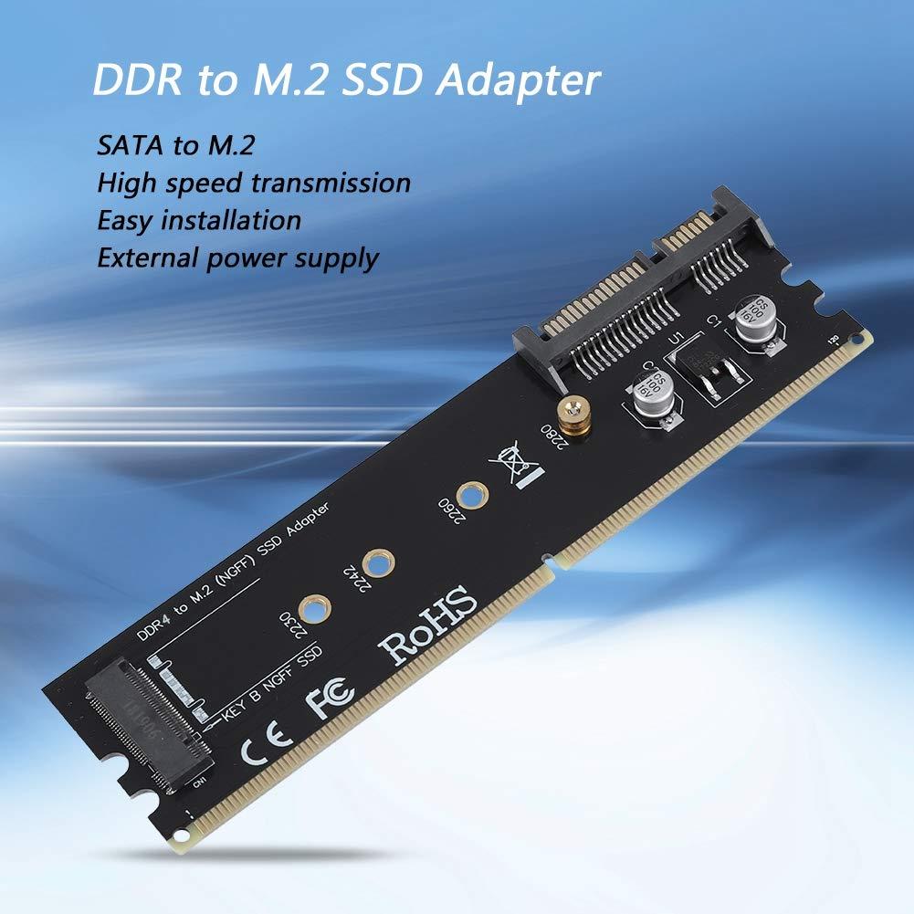 DDR3 M.2 Adaptador SSD SATA Compatible con 2230 2242 2260 2280 M2 NGFF SSD Adaptador SATA para Windows//Mac//Linux DDR NGFF SATA a M.2 NGFF Adaptador de Tarjeta Vertical