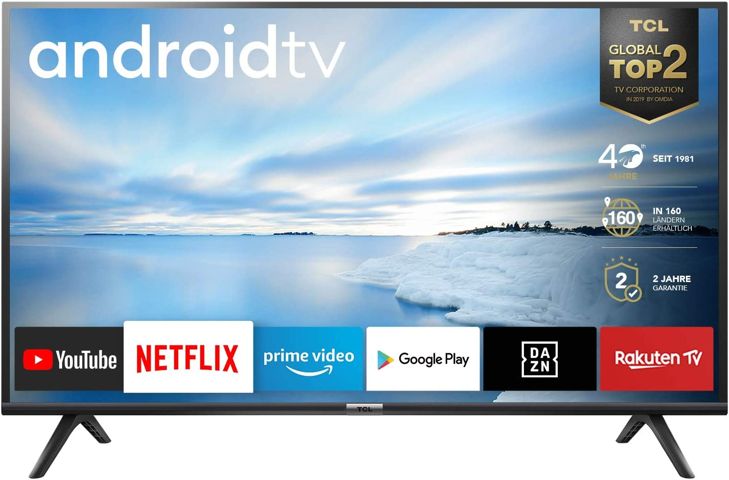 Tcl 32es561 Led Fernseher 80 Cm 32 Zoll Smart Tv Hd Triple Tuner Android Tv Prime Video Hdr Micro Dimming Dolby Audio Google Assistant Schwarz Heimkino Tv Video
