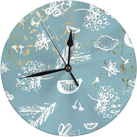 Imagen deMeili Shop Reloj de Pared Elegante Pintura de Invierno en Moda Pastel Blush Gold Marble Cute Vintage Reloj de Pared