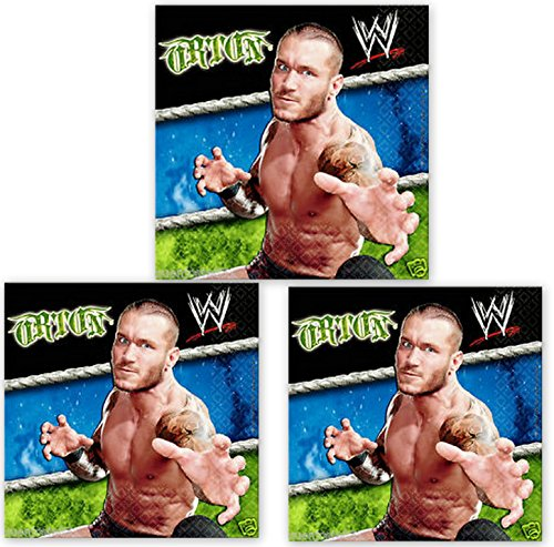 Wrestling WWE Cena Napkins Cake Party Decoration 48 Pieces Pack by DPW