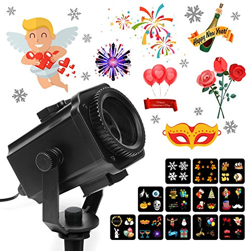 Valentines Day Projector Lights, MeeQee Exclusion Design 12 Slides Holiday Projector Light Show Waterproof Light Projector Outdoor/Indoor Decorative Light for Valentine Birthday Party