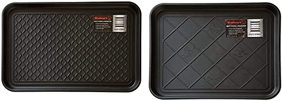 Stalwart 75 St6014 All Weather Boot Tray Water Resistant Plastic Utility Shoe Mat Black Medium 75 St6013 All Weather Boot Tray Water Resistant Plastic Utility Shoe Mat Black Small Furniture Decor Amazon Com